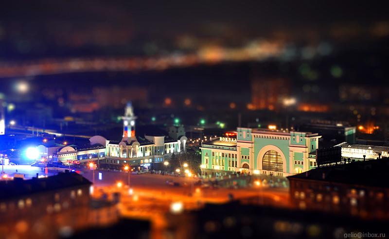 Tilt shift photos of Novosibirsk, Russia 25