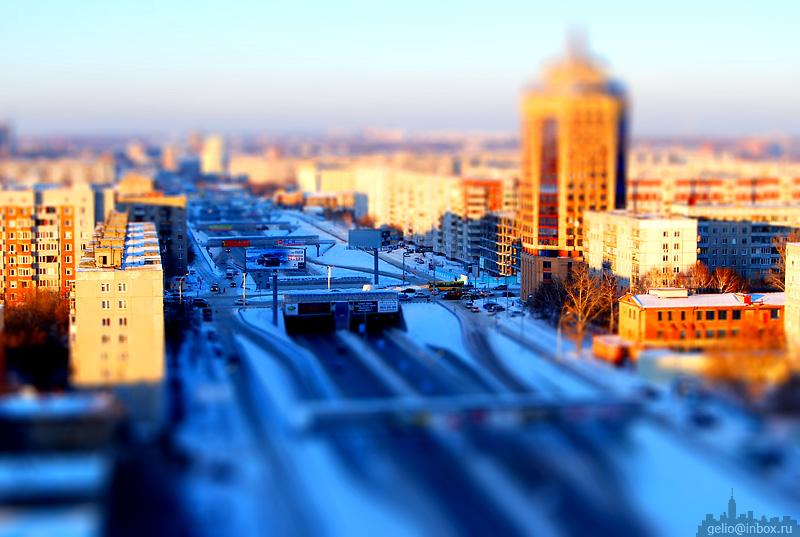 Tilt shift photos of Novosibirsk, Russia 28