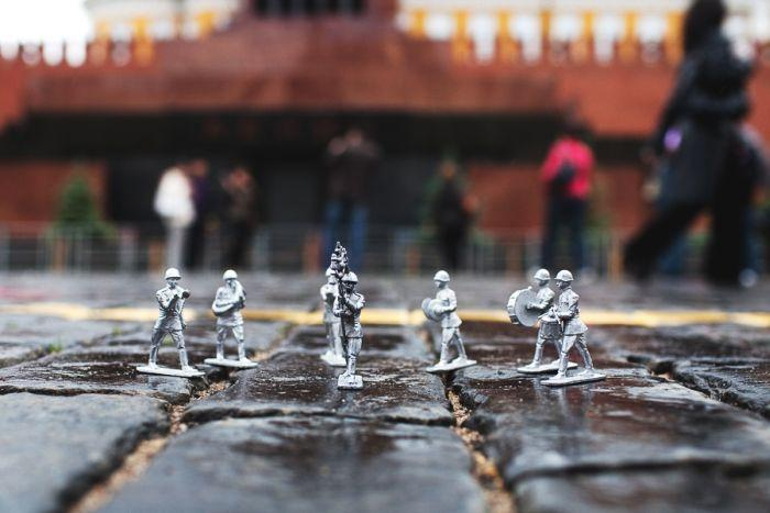 Toy Soldiers Parade in the Red Square