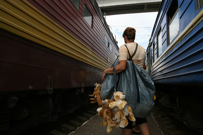 Russian toys sold to train passengers