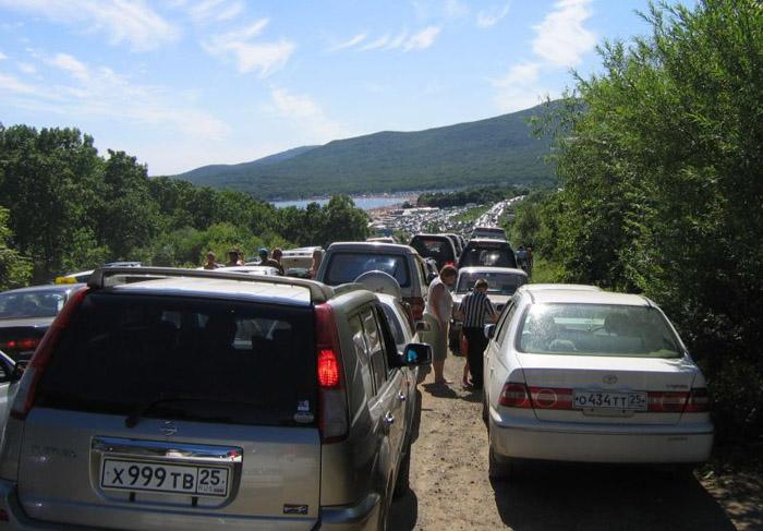 Colossal traffic jam in Vladivostok city 2