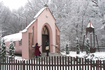Russian church in old railway car 12