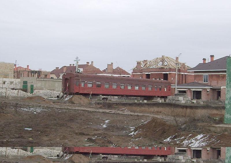 Russian church in old railway car 13