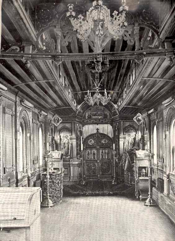 Russian church in old railway car 16