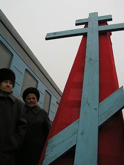 Russian church in old railway car 9