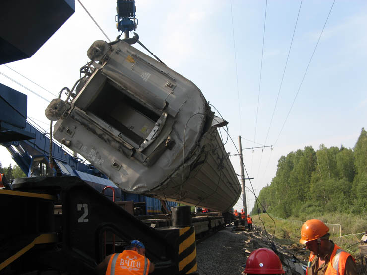 train wrecked in Russia 18