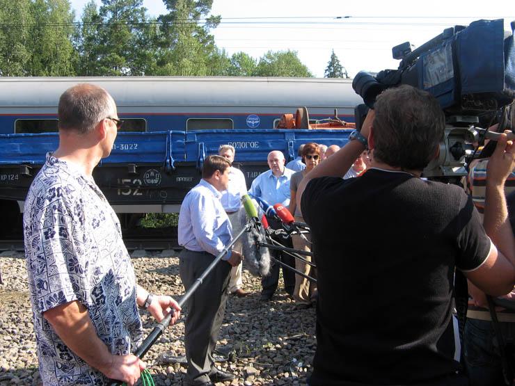 train wrecked in Russia 19