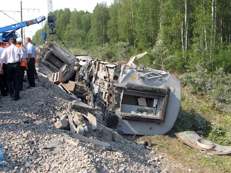 train wrecked in Russia 20