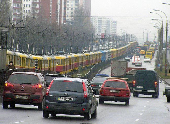 Kiev Tram Jam