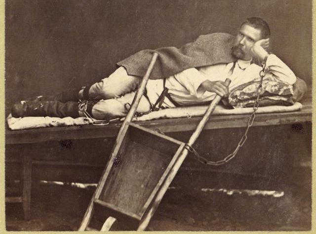 Russian Prisoner and a Wheelbarrow