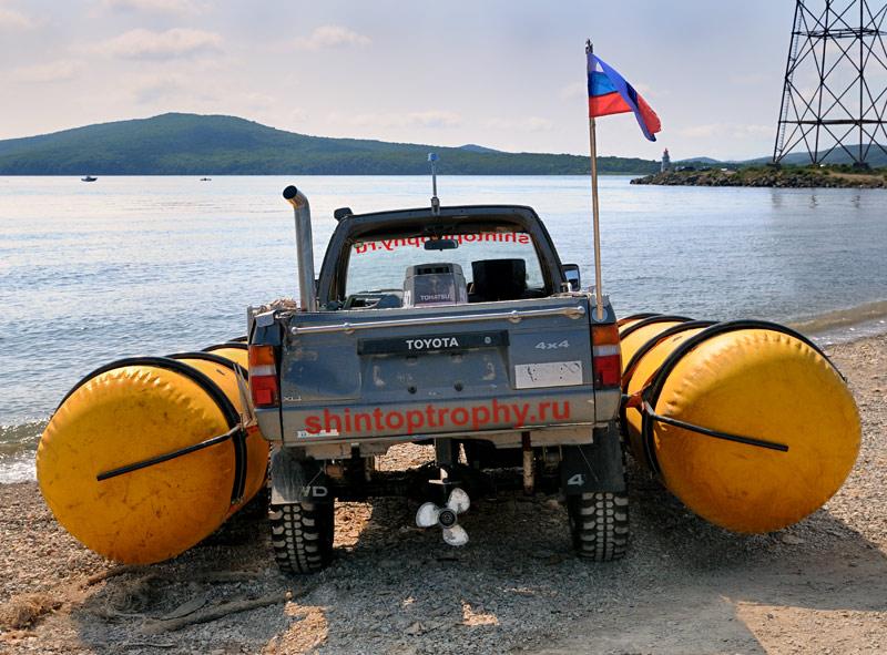 Russian truck goes boat 3