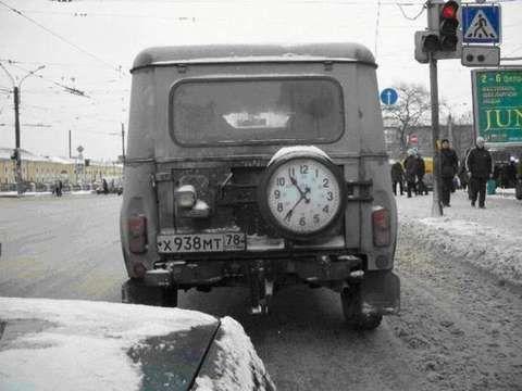 clocks in spare tire 2