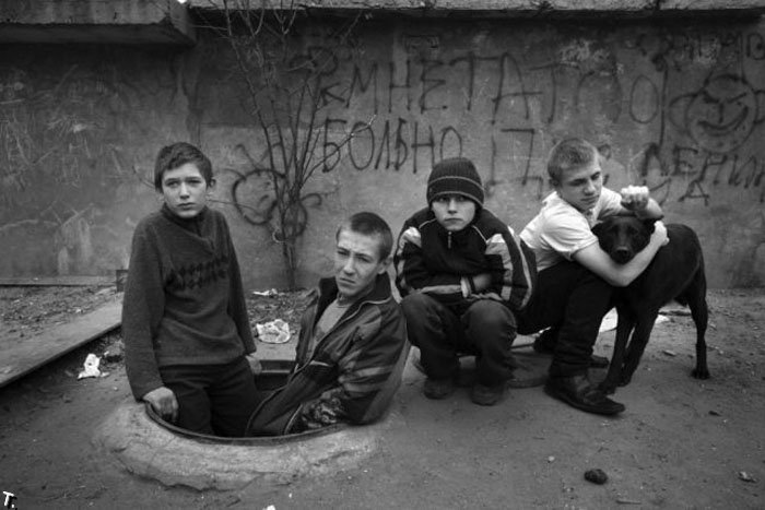 Homeless kids in Ukraine 1