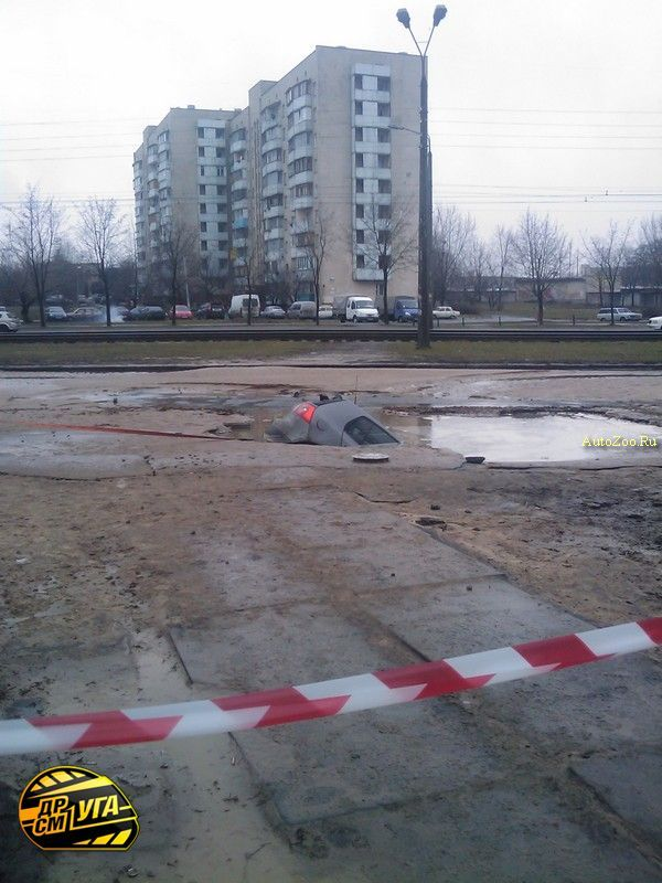 Golf got under road in Russia 5