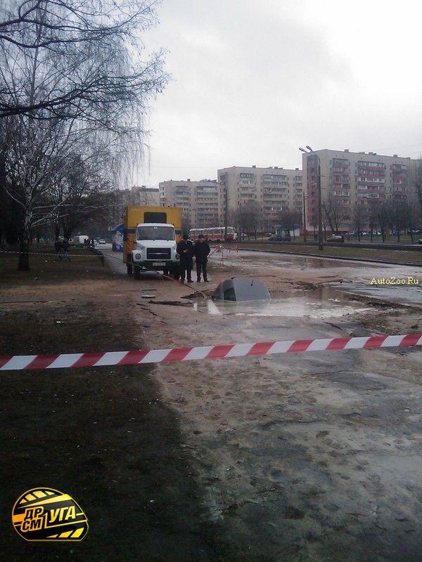Golf got under road in Russia 6