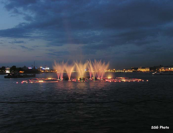 Underwater fountain in St. Petersburg, Russia 2