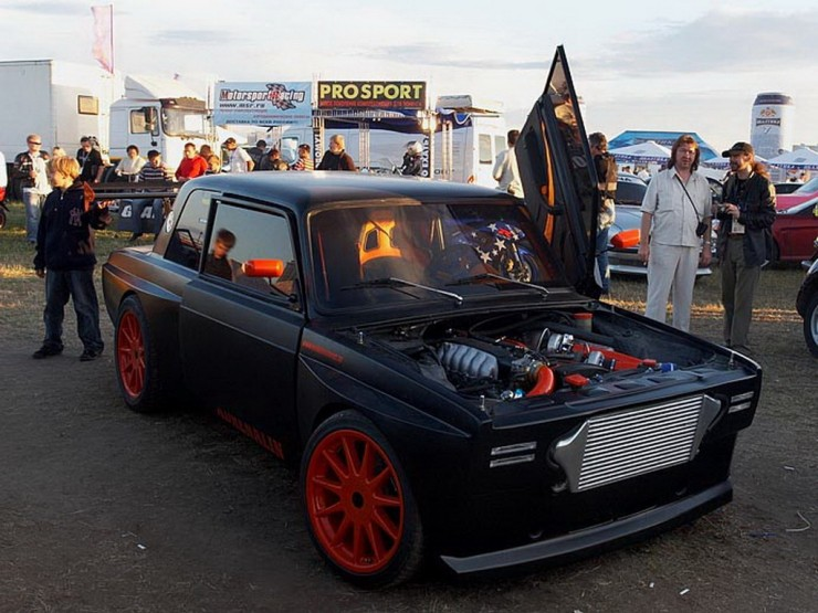 ghost rider lada tuning english russia. Black Bedroom Furniture Sets. Home Design Ideas