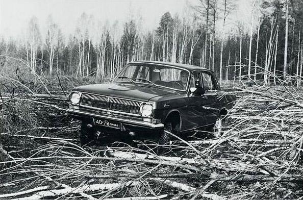 Experimental modification of Volga - Gaz-24-95 landrover 3