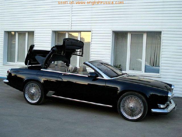 russian volga and german bmw m6 cabrio