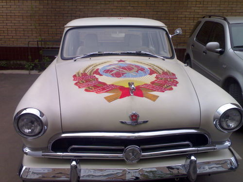 russian car with stalin aerography  4