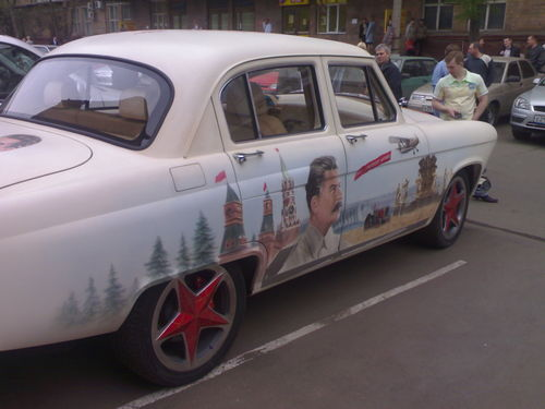 russian car with stalin aerography 6