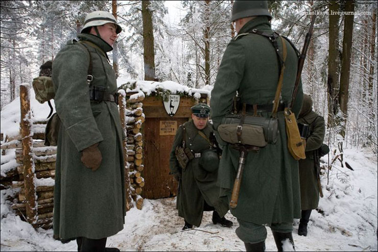 guys dressed in world war suites near Leningrad 11