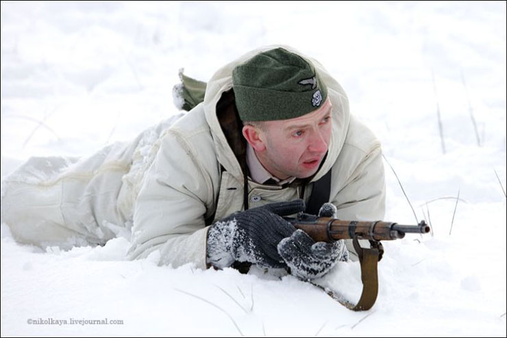 guys dressed in world war suites near Leningrad 13