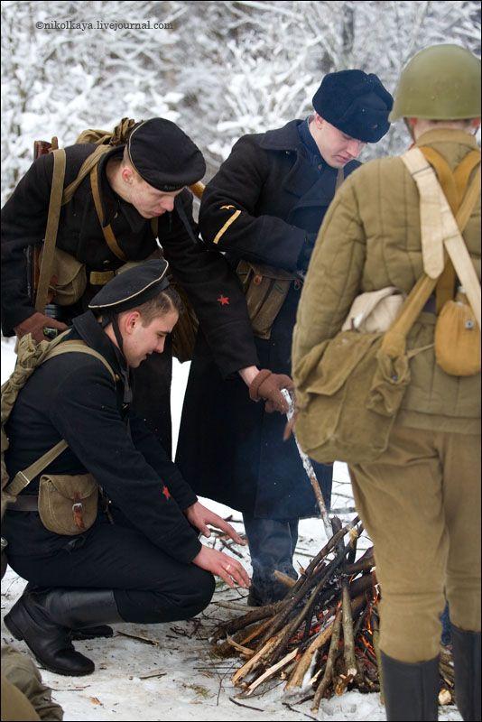 guys dressed in world war suites near Leningrad 16