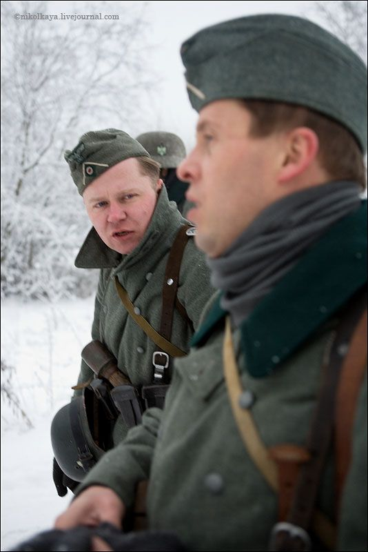 guys dressed in world war suites near Leningrad 2