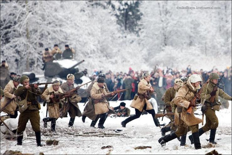 guys dressed in world war suites near Leningrad 21