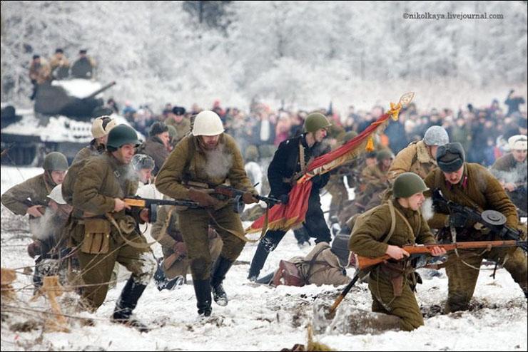 guys dressed in world war suites near Leningrad 24
