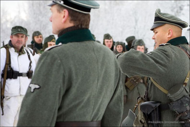 guys dressed in world war suites near Leningrad 6
