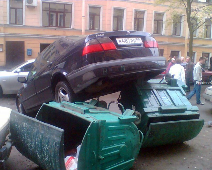 bad parking in Russia 3