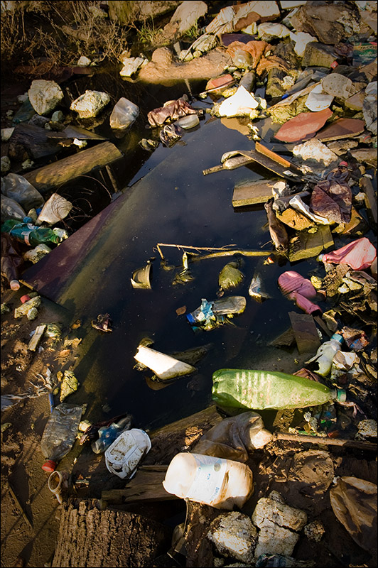 dump of wastes in Moscow, Russia 12