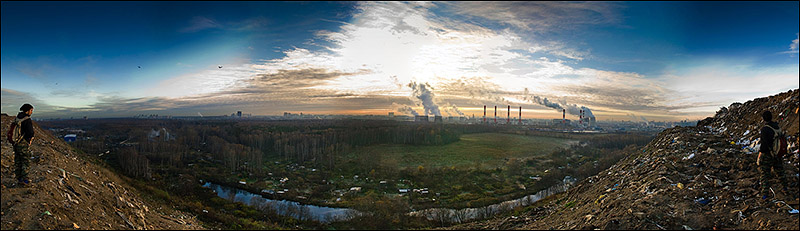 dump of wastes in Moscow, Russia 2