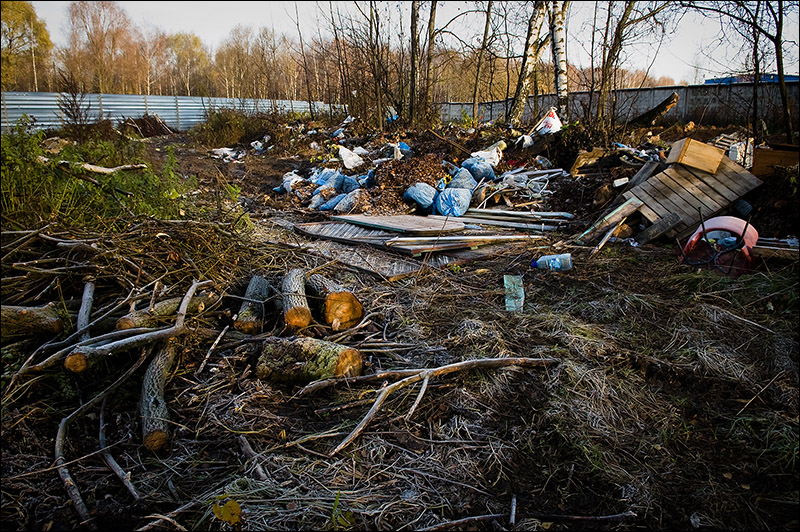 dump of wastes in Moscow, Russia 3