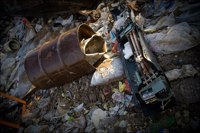 dump of wastes in Moscow, Russia 6