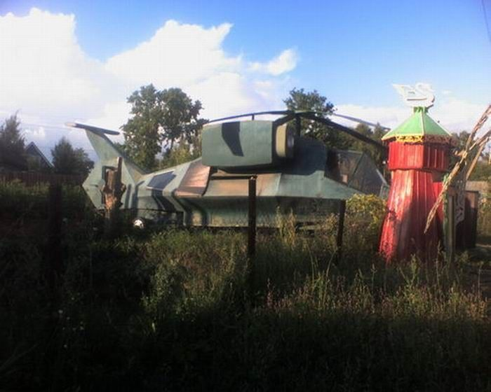 Weird Russian Helicopter House