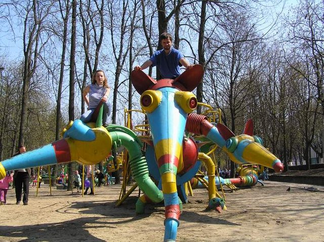 the most weird russian playgrounds for kids 97