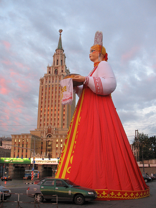 a 30ft tall figure somwhere in Moscow 2