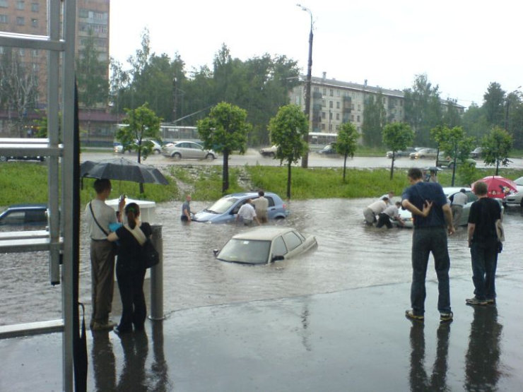 some photos of floods in russia 1