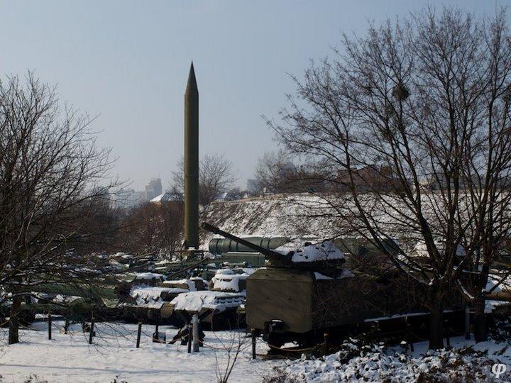 Russian armaments in museum in winter 3