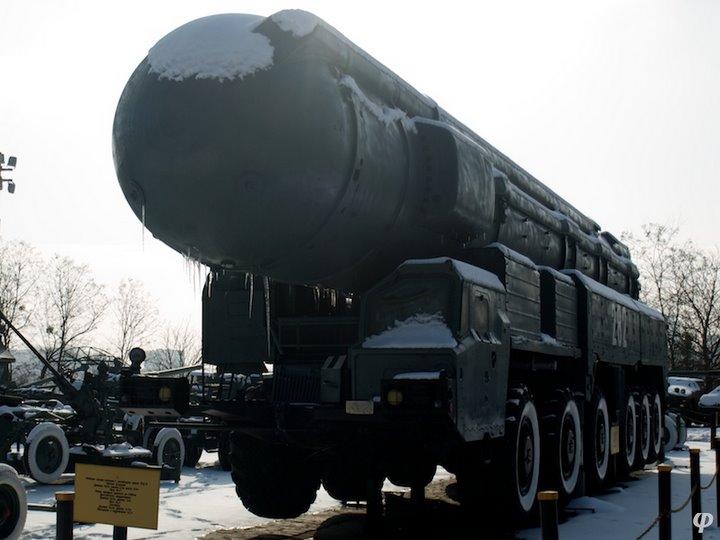 Russian armaments in museum in winter 4