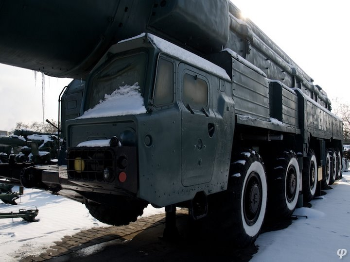Russian armaments in museum in winter 6