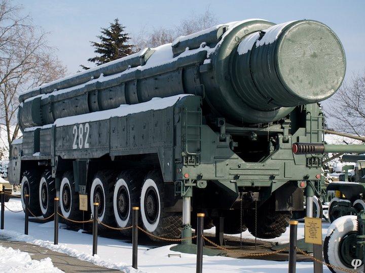 Russian armaments in museum in winter 7