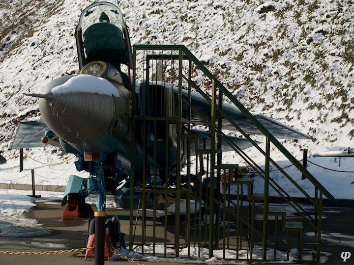 Russian armaments in museum in winter 11