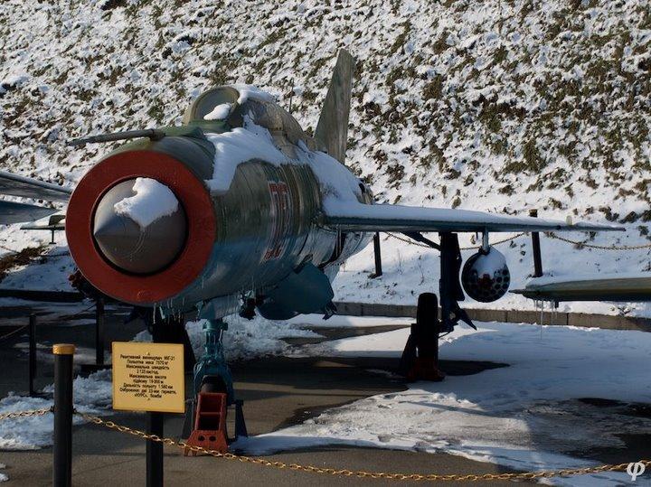 Russian armaments in museum in winter 12