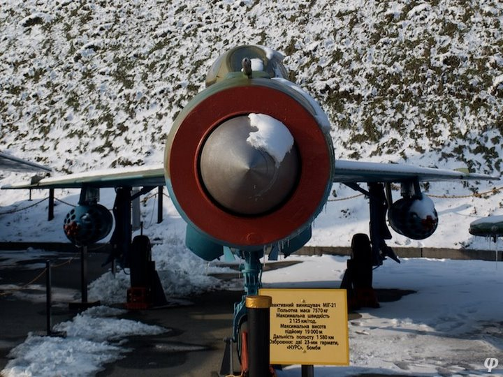 Russian armaments in museum in winter 14