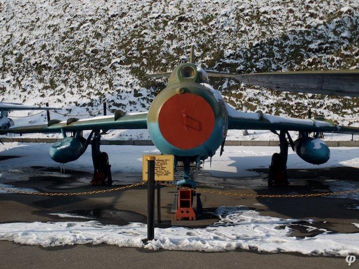 Russian armaments in museum in winter 16