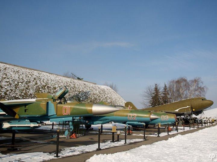 Russian armaments in museum in winter 17